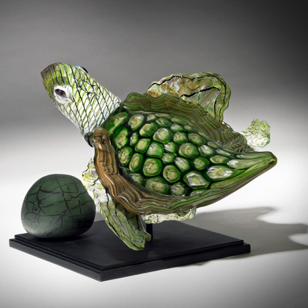 Green Murine Sea Turtle by Lee Harris Studios