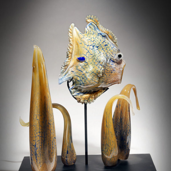 Giant Angelfish with Glass Corals by Lee Harris Studios