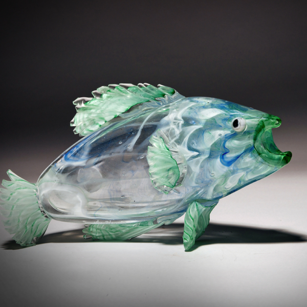 Green/White Optic Trout by Lee Harris Studios
